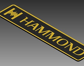 Hammond Organ Logo 3D printable model