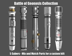 Battle of Geonosis Lightsaber Hilts 3D Printable