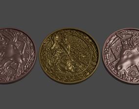 Medallions from Resident Evil 2 3D model