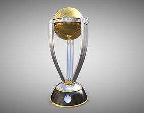 World cup cricket trophy 3D asset