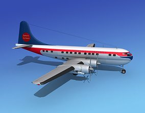3D Boeing 377 Saturn Airlines