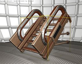 Wood Stairs - Construction Element 1 3D model