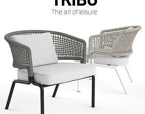 TRIBU Contour Clubchair 3D model