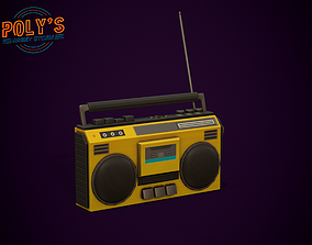 Radio Set - Low Poly Stylized 3D asset