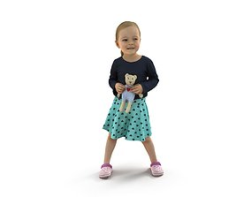 Girl With a Toy 3D model