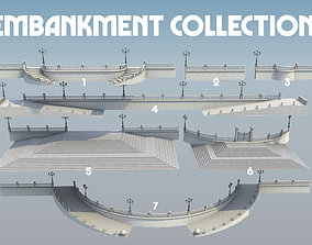 3D model Embankment Promenade collection