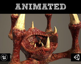 Meat Clawed Worm 3D asset