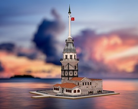 3D model Maidens Tower Istanbul