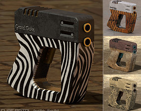 Cube Pistol 3D asset