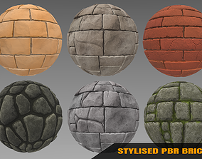 3D Brick - Stylised PBR Texture - Material