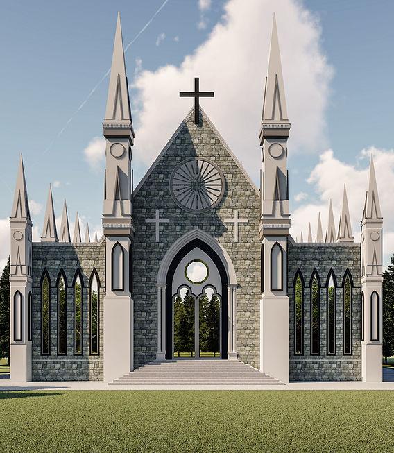 CHURCH RENDER IN LUMION 8.5 PRO