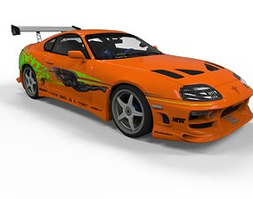 Toyota Supra Fast and Furious 3D asset