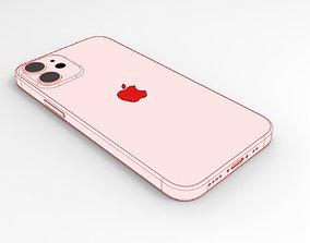 iPhone 12 mini - real dimensions 3D model