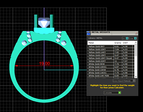 3D print model jewelry rings Diamond