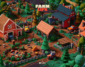 animated Farm Life - UE4 Unity3D FBX Stylized LowPoly Art