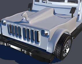 game-ready Wrangler Jeep 3d Low-Poly Model