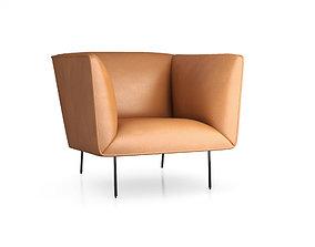 Dandy Leather Lounge Chair by Blu Dot 3D