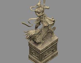 bridge Kirin - Soldier - Warrior Statue 3D model