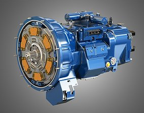 3D Heavy Duty Truck Transmission