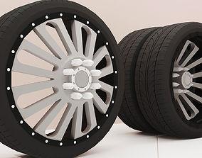 3D print model tire wheels