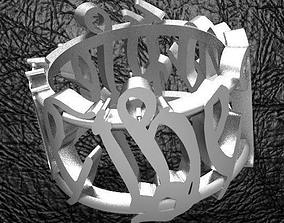 3D print model We The People Men s Ring