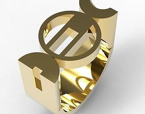 Bauhaus Ring 3D print model