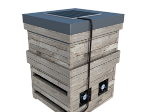 3D model low-poly BEES BOX