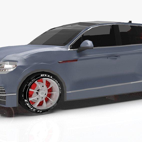 Lowpoly Basic Volkswagen Touareg