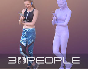 3D asset Valeska 10254 - Music Athletic Woman