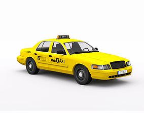 Taxi Car 3D model PBR