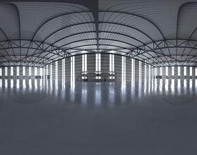 3D model HDRI - Airplane Hangar Interior 2