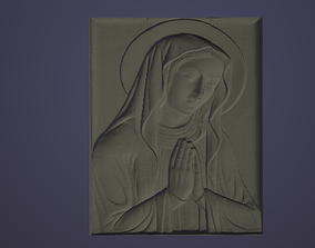 HOLY MARY VIRGIN 3d printable model 3D print model