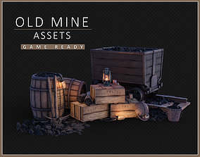 low-poly Old Mine Assets