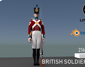British LINE INFANTERY 1800 3D model rigged