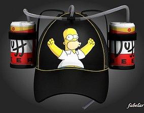 Homer beer hat 1 3D