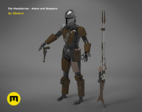 3D printable model The Mandalorian - full armor and