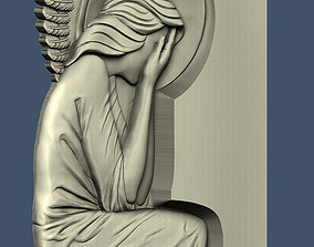 3d STL model for CNC Angel with your face