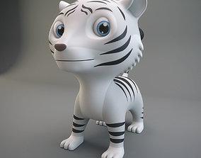 3D model realtime White Tiger