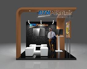 Booth Modern 3x2 3D