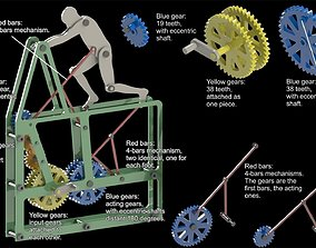 3D print model man pushing