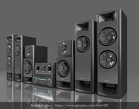 3D asset Home Theater Sony Muteki