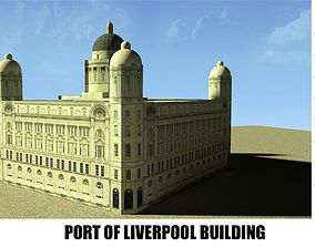 3D asset PORT OF LIVERPOOL BUILDING
