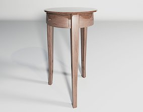 Round Table wood varnish 3D model glossiness