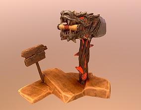 Dragon Post Box 3D asset