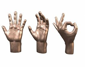 Male Hand 3 poses 3D printable model art
