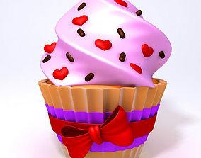Valentine Day Cupcake 3D