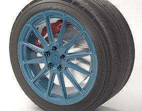 BBS FS3 rim 3D model