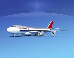 Boeing 747-100 Northwest Orient 3D model