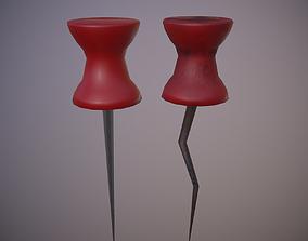 3D asset Pin normal and broken
