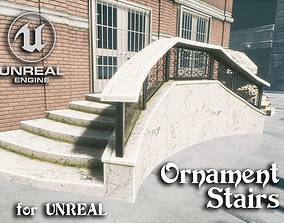 3D asset Ornament stairs for UNREAL